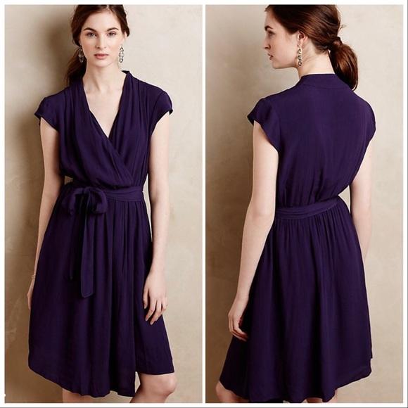 36565ad20676 Anthropologie Dresses | Maeve Purple Noronha Wrap Dress Xl | Poshmark